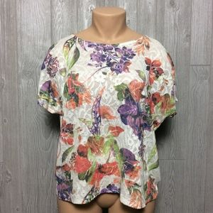 Tops - Beautiful Floral Lace top  PLUS SIZE